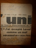 12 Juin 1945 L'UNION :Les Atrocités Allemandes à Figeac ; Les 23000 Cadavres Du Camp De Belsen ; Australiens à Bornéo - Other