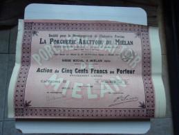 LA PORCHERIE - ABATTOIR DE MIELAN (gers) - Non Classificati