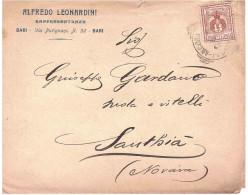 BUSTA ALFREDO LEONARDI RAPPRESENTANZE BARI - 1900-44 Vittorio Emanuele III