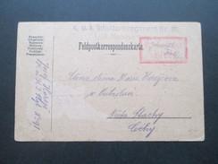 Österreich Feldpostkarte Von Der Armee Im Felde. KuK Infanterieregiment Nr. 91 I./XII Marschkompagnie. Zensuriert - Briefe U. Dokumente