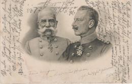 Litho AK Kaiser Franz Joseph Josef Wilhelm II Preussen Hohenzollern Österreich Habsburger Patriotika Kaiserreich Adel - Personen