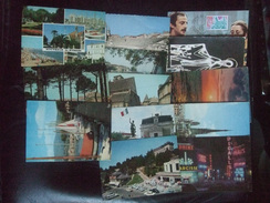 FRANCE SELECTION OF 13 COLOUR POSTCARDS VARIOUS REGIONS AND POSTMARKS - 5 - 99 Postkaarten