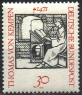 Allemagne Fédérale 1970 N° 540 ** Thomas Von Kempen, Livre, Plume, Zwolle, Monastère, Opéra, Compositeur Chanson Musique - [7] Repubblica Federale