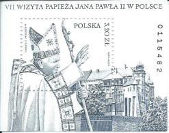 ZPOLBn158 - POLOGNE 2002 - Bloc N°158 (YT) - Neuf** - MNH - 7ème Visite De S.S. Le Pape Jean-Paul II En Pologne - Papas