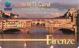 *ITALIA* - WTI CARD (FIRENZE) - Scheda Usata - Italy