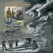CENTRAL AFRICAN REPUBLIC SHEET. GERMANY'S INVASION OF POLAND. WORLD WAR II. 2014. PERFORADO NUEVO. - Centrafricaine (République)