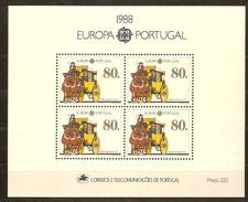 Cept 1988 Portugal Yvertn° Bloc 89 *** MNH Cote 13 Euro - Europa-CEPT