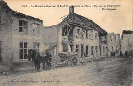 Pervijze Diksmuide   Bataille De L'Yser Slag Van De Ijzer  Een Straat In Parvijze  Koets Boerenpaard       A 2845 - Diksmuide