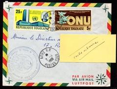 Togo Enveloppe Cover Lomé RP 07 04 1966 - Togo (1960-...)