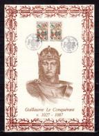 """FRANCE 1987 : Encart 1er Jour N°té / Soie Rare (481/1000) Edit° A.M.I.S."""" G LE CONQUERANT """". 2 X N° YT 2492. Parf état - Non Classificati"""