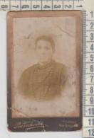 Fotografia Tessera Cartonata Primi 900 Donna Woman Femme Costumi Tivoli - Antiche (ante 1900)