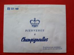 """54 Enveloppe Publicitaire  Bieres """"CHAMPIGNEULLES""""       1968 - Factures"""