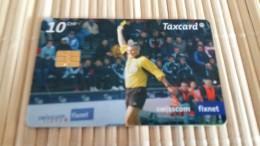 Zwitserland Phonecard Football 10 CHF  Used  2 Scans Rare - Switzerland