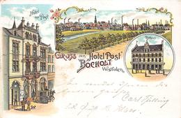 Gruss Aus   HOTEL POST BOCHOLT Westfalen                       A 2905 - Souvenir De...