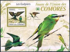 Bloc Sheet Oiseaux  Birds Guepiers  MNH  Neuf ** Comoros Comores 2009 - Autres