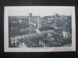 CA5 ITALIA CARD - VG. 1920 - RACCONIGI TORINO PANORAMA TORRE CAMPANILE - Italia