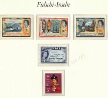 Fiji 1963 1966 / Royal Visit / 175th Anniversary Of Discovering Rotuma / MNH / Mi 168-168, 193-195 - Fiji (1970-...)