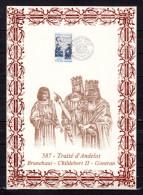 """FRANCE 1987 : Encart 1er Jour N°té / Soie Rare (612/1200) Edit° A.M.I.S."""" TRAITE D'ANDELOT """". N° YT 2500. Parf état. FDC - Non Classificati"""