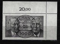 BUND - Mi-Nr. 1351 Rechte Obere Ecke - 25 Jahre Vertrag Deutsch-französische Zusammenarbeit Gestempelt - BRD