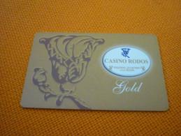 Greece Rodos Casino Gold Magnetic Player´s Member Slot Card - Carte Di Casinò