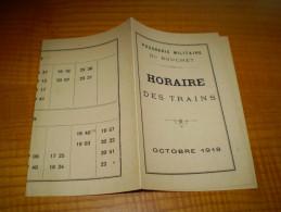 Poudrerie Militaire Du Bouchet à Vert Le Petit : Horaires Des Trains , 1918 - Europe