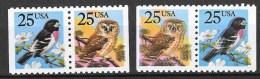 Owl Uil Hibou Birds Shifted Print Verschoven Print 1988 Grosbeak - Errors, Freaks & Oddities (EFOs)