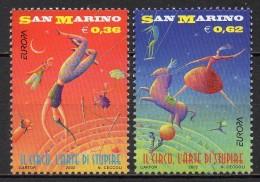 Saint-Marin - 2002 - Yvert N° 1805 & 1806 **  - Europa - Saint-Marin