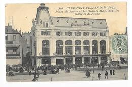 CLERMONT-FERRAND  (cpa 63)  Place De Jaude Et Les Grands Magasins Des Galeries De Jaude -    - L 1 - Clermont Ferrand