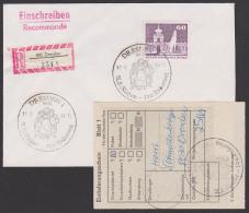 """Dresden Zwinger DDR SSt. """"A. L(udwig) Richter 100. Todestag"""" Auf Einschreiben-Ortsbrief Mit Einl.-Liste, Abb. Kinder - DDR"""