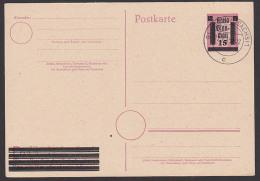 SBZ 15 Auf 6 Pf Lokalausgabe Glauchau (Sachsen) GA PB 893II Gefälligkeitst-St. - Zone Soviétique
