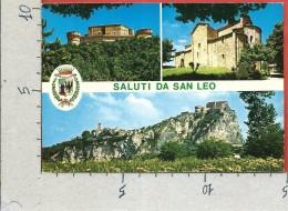 CARTOLINA VG ITALIA - Saluti Da SAN LEO (RN) - Panorama - Vedutine - 10 X 15 - ANN. 19?? - Rimini