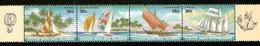 Cocos (Keeling) Islands 1987 Sailboats Strip 4 - Cocos (Keeling) Islands