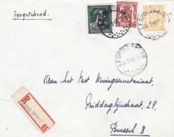 N° 724 P + 710+715 / Lettre Recommandée De LEOPOLDSBURG Vers BXL - 1946 -10%