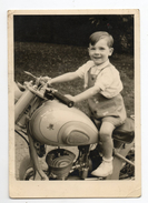 Photo - Moto Peugeot Avec Enfant - Motorbikes