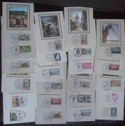 FRANCE 1960 - 1970`s SELECTION OF 23 MAXI-CARDS WITH SILK PHOTOS - Cartes-Maximum