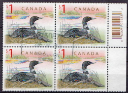 Canada Used Stamp In A Block Of 4 - Ducks