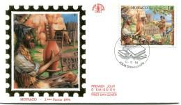 Monaco - Yvert 1964 - Robinson Crusoé - R 2584 - FDC