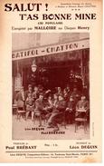 RARE - 1928 - PARIS 3è - RUE DU VERTBOIS - PARTITION ILLUSTREE PAR CAFE BATIFOL CHATTON - VOIR DESCRIPTION - EXC ETAT - - Musique & Instruments