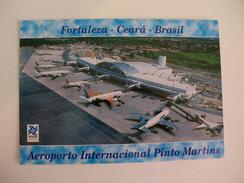 Postcard Postal Brasil Fortaleza Vista Aérea Do Aeroporto Internacional Pinto Martins - Fortaleza