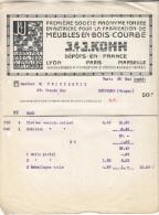 J & J Kohn-meubles En Bois Courbé-paris Mai 1911-(état) - France