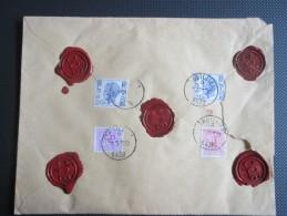 Elström Op Aangetekende  En Verzekerde (Bef 1000) Brief Uit Thuillies - België