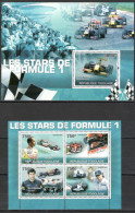 TOGO 2010  Racing Cars, F-1, Famous Pilots,  Sheetlet+SS  Perf. - Auto's