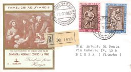 FDC Kim Cover- Italia - 1963 - Campagna Contro La Fame - VG - Raccomandata - 6. 1946-.. Republic