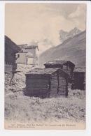 Dörflein Auf Den Platten Bei Zermatt Und Die Mischabel. - VS Valais