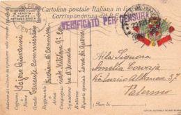 Storia Postale - Italia Regno 1917 - Cartolina Postale Franchigia Zona Guerra - Italia