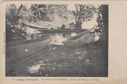 CONGO FRANCAIS   ST LOUIS DE L 'OUBANGHI Retour Des Pirogues Au Village - French Congo - Other
