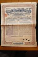 Obligation 1910  Chemin De Fer Est Central Chilien Chili Railway Fiscal Anglais 4 Shilling - Spoorwegen En Trams