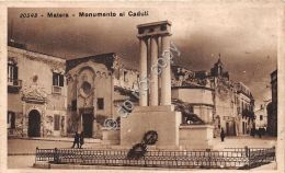 Cartolina - Postcard -  Matera - Monumento Ai Caduti - Anni '20 - Italia