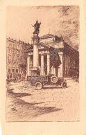 Cartolina - Postcard - Illustrata - Trieste - Piazza Borsa - Pubblicit? Pirelli - Publicités