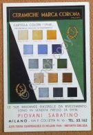 Materiali Edili - Cartolina - Pubblicit? - Ceramiche Marca Corona - Anni '50 - Pubblicitari